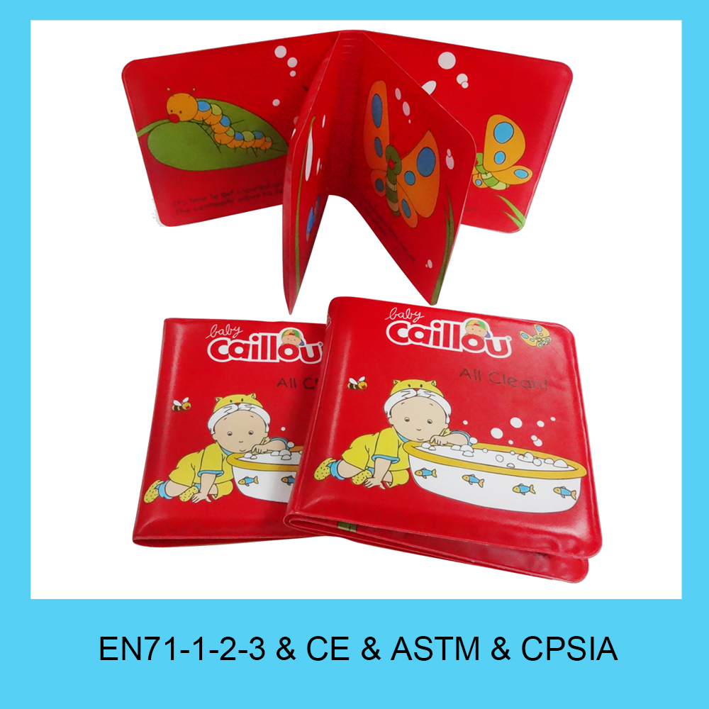 Waterproof eco-friendly plastic baby bath book PEVA film printing
