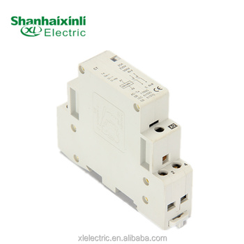 XINLI China factory CT 25A 1,2,3,4 Pole 2no Household Contactor Home Application Mini contactor used for family