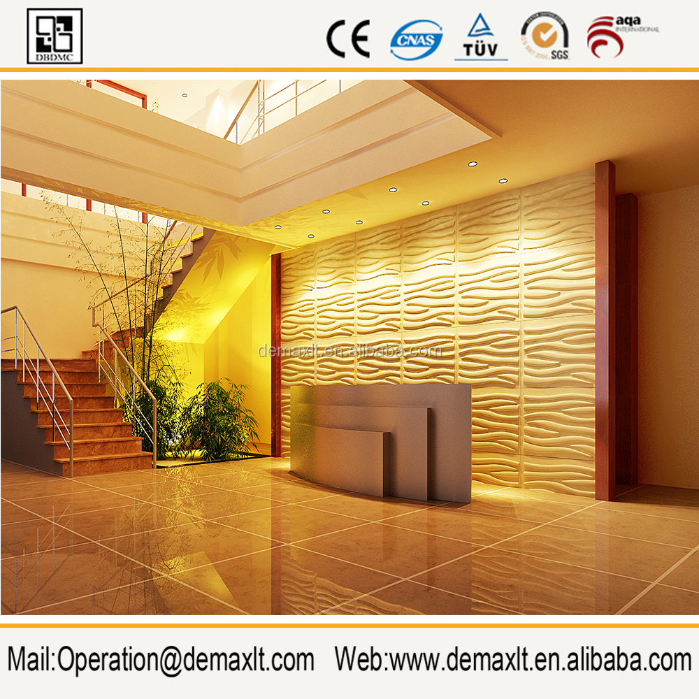 3d mdf wall panel ---the colorful embossed board