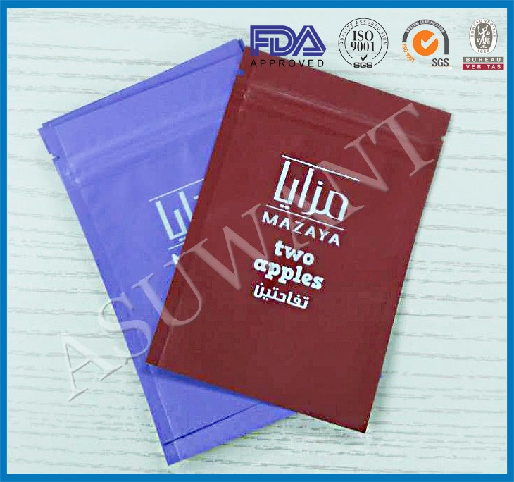 Hot sale three side sealed Smell proof mylar zip lock bags