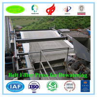 2016 alibaba latest technology taiyuan made mud dewatering belt press filter equipment for water solid separation
