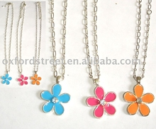 Flower necklace.necklace pendant.alloy necklace---STOCK--152