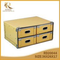 Cardboard storage chest with four drawers
