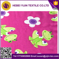 wholesale reactive printed 100% cotton flannel fabric for baby bedding sets