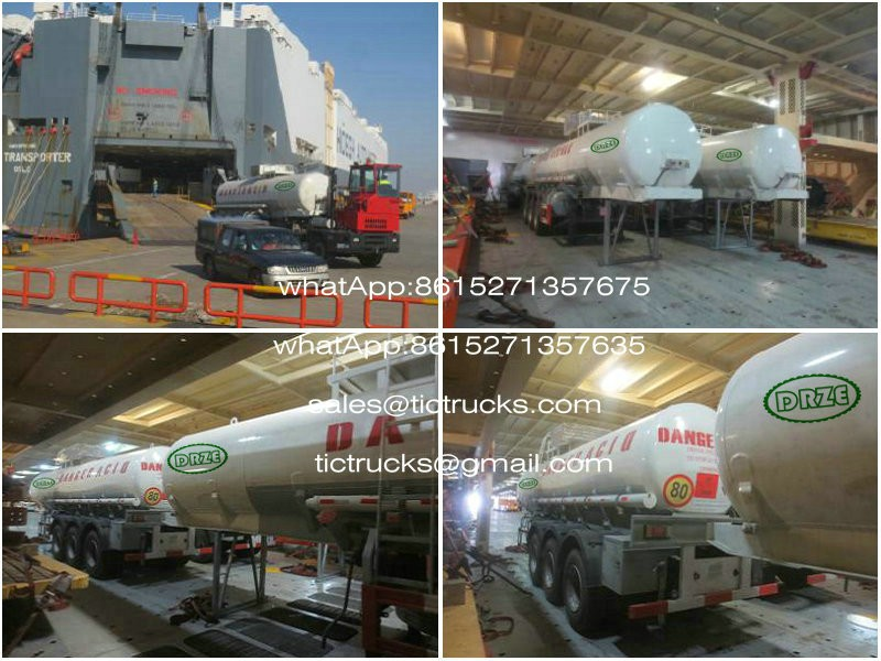 To Gabon stainless steel vegetable oil tank trailers