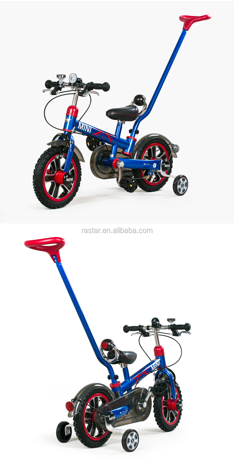 Rastar kids balance wheels bicycle MINI COOPER baby stroller bike with push bar