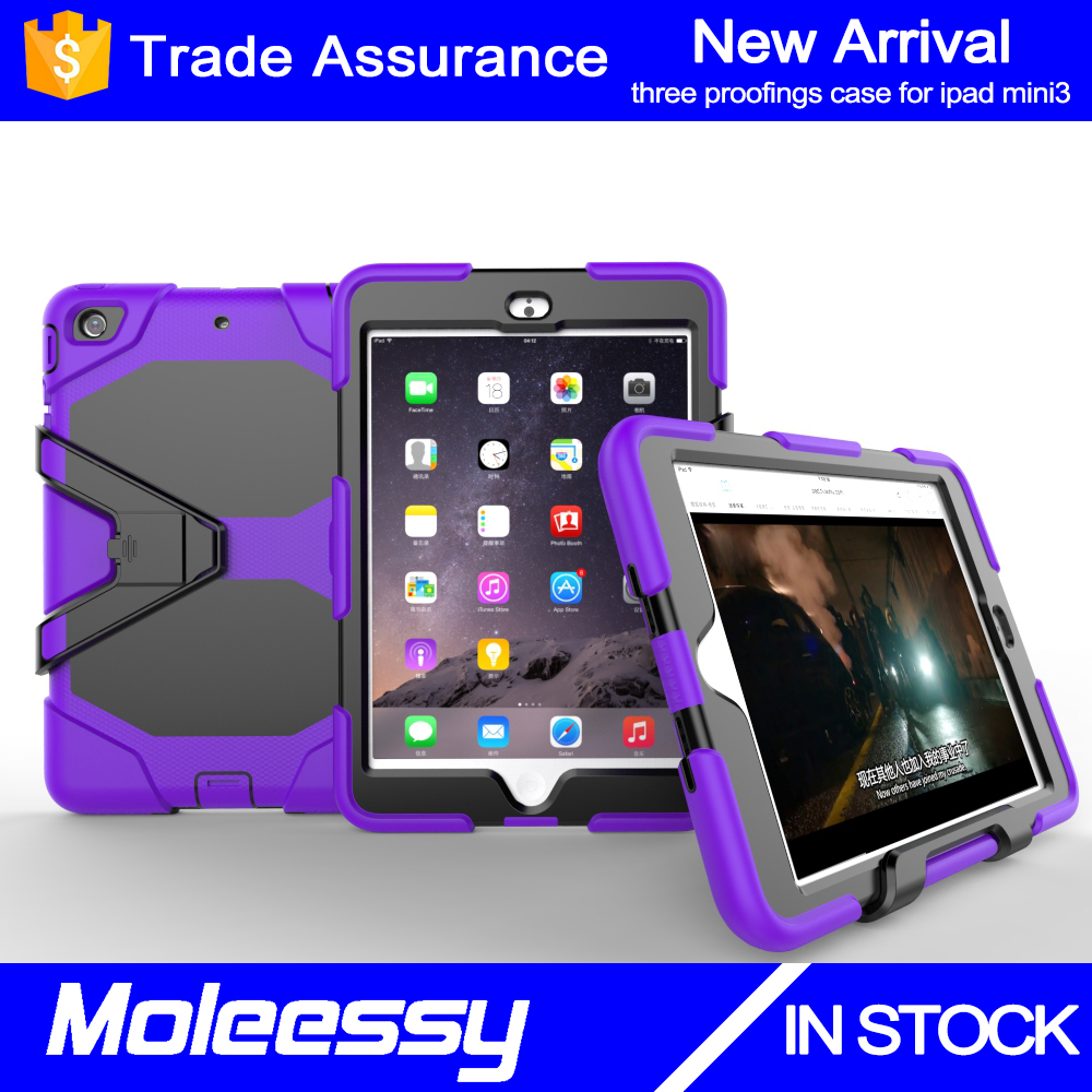 China supplier promotion kid proof rugged tablet case for ipad mini 3 anti-shock case cover
