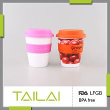 Competitive price high quality durable hard plastic cup with lid and straw