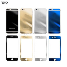 Hot Sale 2.5D 9H 0.26mm Color Mirror mobile phone Tempered Glass Screen Protector For iPhone 6/6S 7/7S Plus