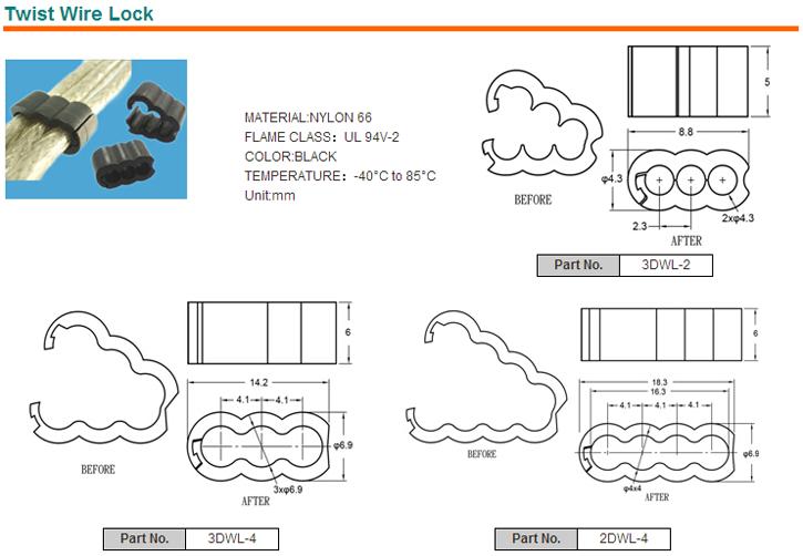Two-Piece Locking Clamp nylon wire mount plastic wire clip, View ...