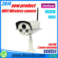 Wireless ip camera 1080P(optional) resolution Support Mobilephone View(Iphone,Android) with P2P