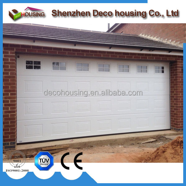 Residential security automatic galvanized steel pu foam sectional garage door prices