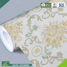 Non-toxic Newest beautiful patterned polyester self-adhesive clear plastic film