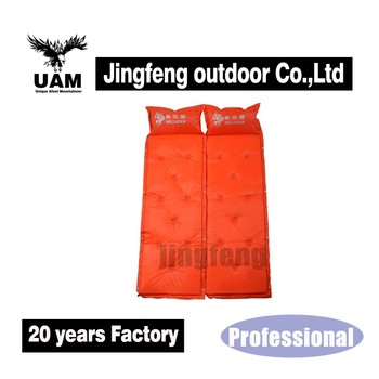 Air mattress self inflating camping sleeping pad