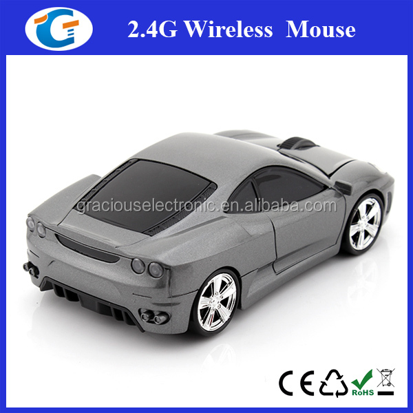 Cool Ferrari Car Shape mouse,Computer Game Wireless Mouse With DPI-1200 24Ghz 18mA