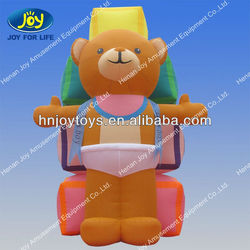 Giant inflatable teddy bear for advertising