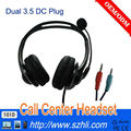 3.5mm DC/RJ11/RJ9/USB head microphone headset/earphone