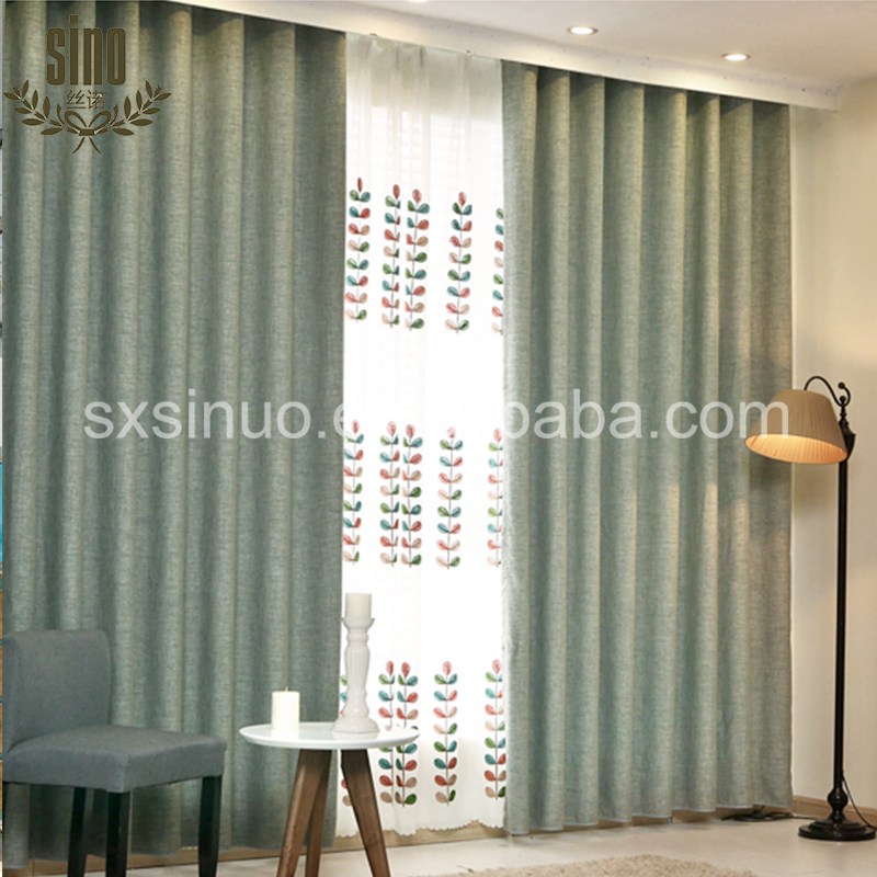 Chinese Factory Cheap blackout 3 layer fabric elegant drapes curtains