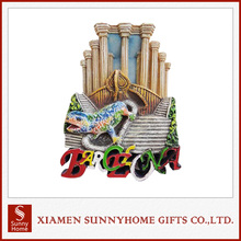 Customized Rubber 3D Cities Fridge Magnet Polyresin Souvenirs
