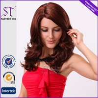 guangzhou factory 100% synthetic hair 24 inch best selling body wave lace hair wig for fashion ladies