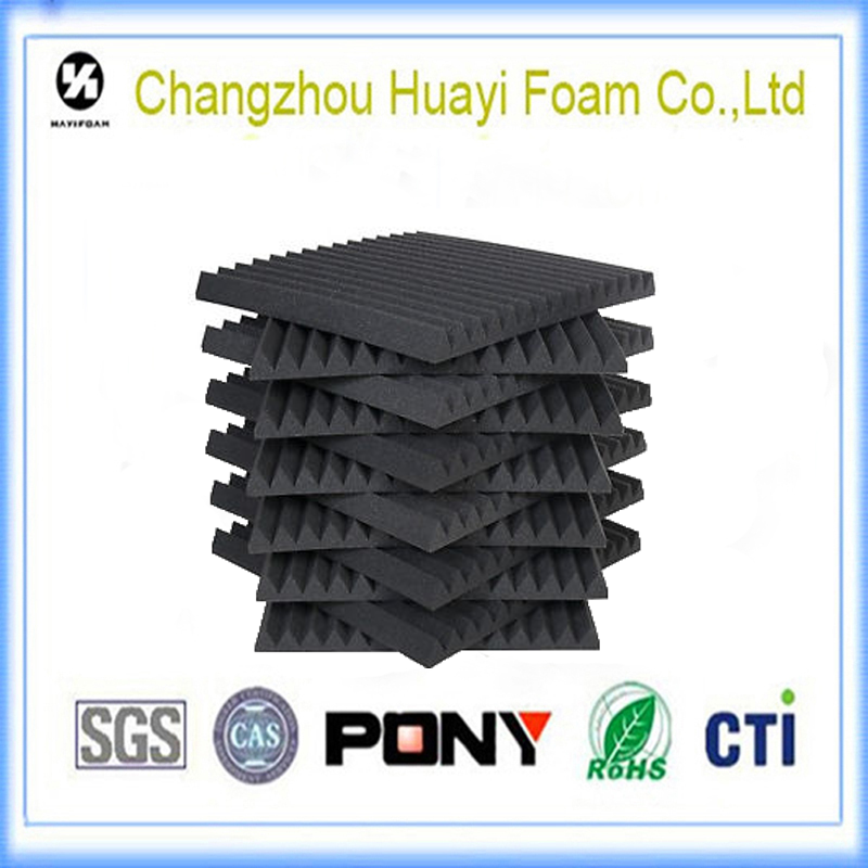 black the wedge Sound absorbing panel acoustic foam sponge roll