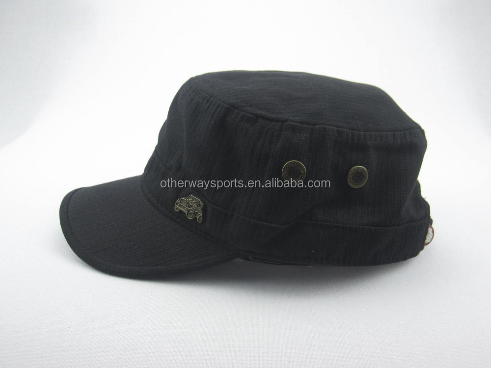 men's military style caps