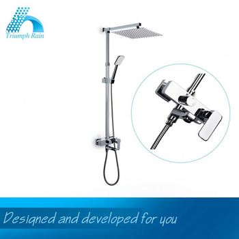 Clearance Price Classic Design Optional Shower Head Antique Brass Wall Mounted Shower Faucet Set