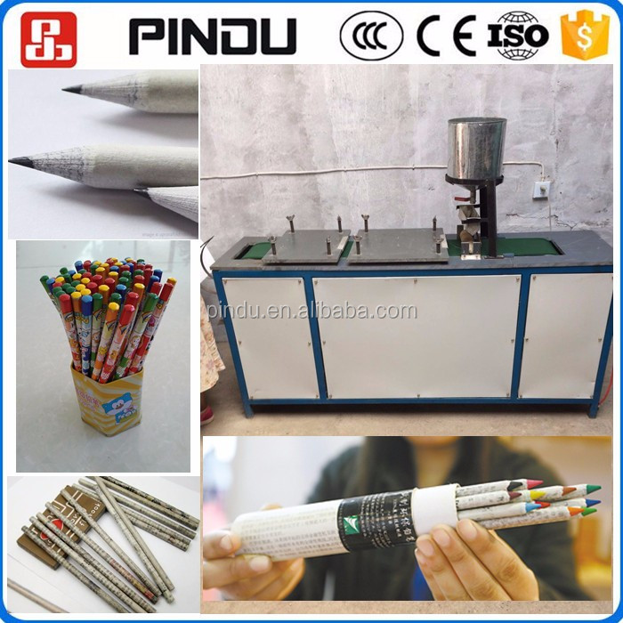 Recycled waste paper color lead pencil making machine low price
