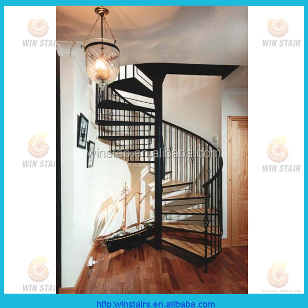 indoor used spiral staircase prices / interior stair design / timber tread spiral stair