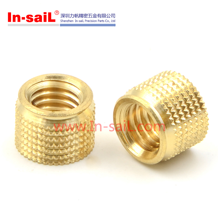 Thermoplasitc plastics cold press fit diamond knurling insert nut m6