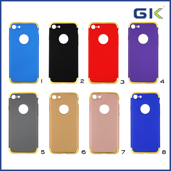 [GGIT] Fashion Leather Paint 3 in 1 PC Mobile Phone Case For IPhone 7 Back Cover