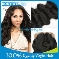 100% unprocessed virgin brazilian body wave silk base closure 10 inches shipping to UK only