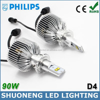 Free Shipping CE RoHS Approved Philips Lumileds 6000K 9000lm Conversion Kit D4S Car LED Universal Head Lighting