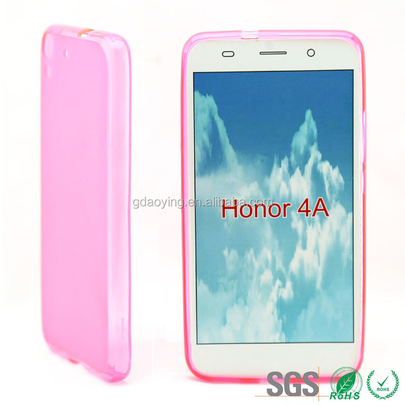 clear transparency cell phone cover for huawei 4A