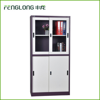 Alibaba china furniture purple glass sliding door filing cabinet and shoe cabinet
