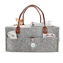 china wholesale amazon hot sale custom felt baby diaper organizer bag