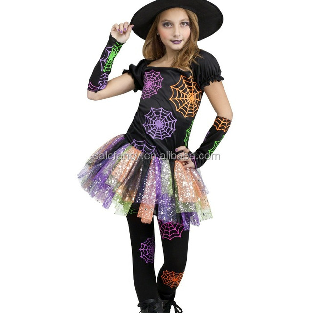 wild witch child costume sunflower fancy dress costumes for kids QBC-8257