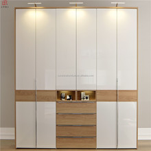 modern latest kids adult children bedroom wall plywood wardrobe design