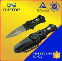 420 Stainless Steel Black Serrated BC Fixed Blade Professional Dive Knife Sharp