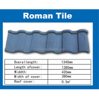 Custom made pioneer roof tile / blue roof tiles / color stone coated metal roof tile