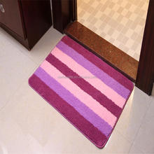custom latex backing durable smooth polyester door carpet