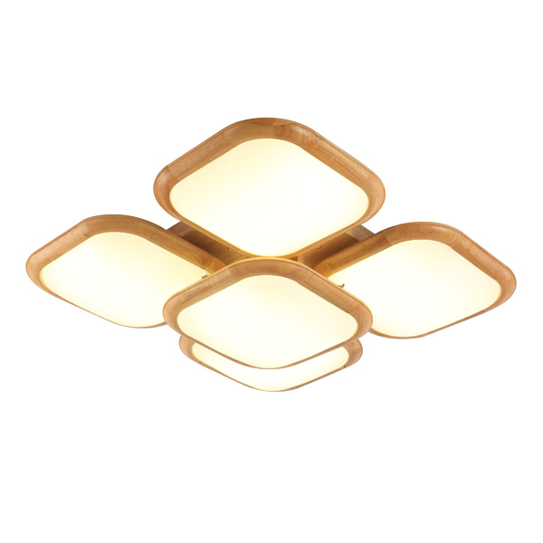Modern design hot selling decorative dining room wood E27 4 bulbs ceiling light home lighting