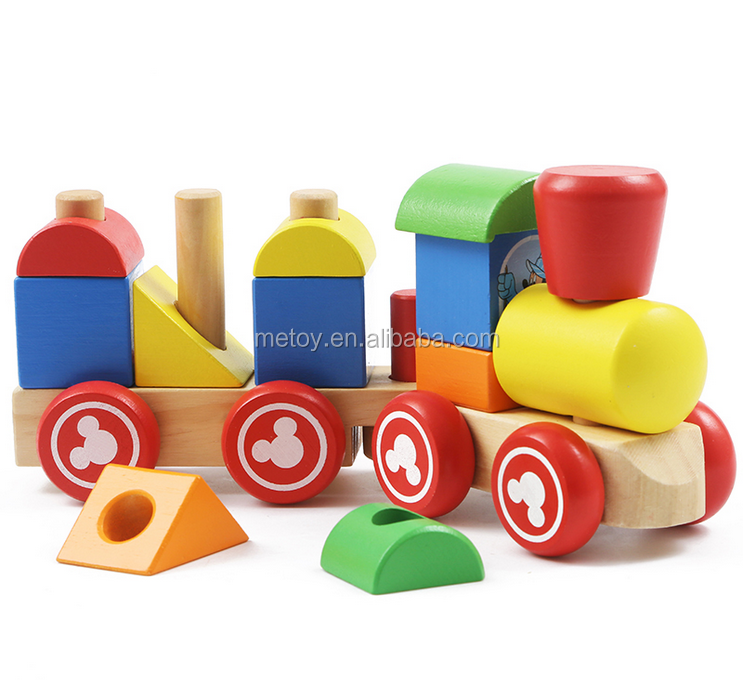 TUV certificated wooden toy wheels Function educational train toy Outdoor wooden train track