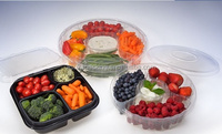 Biodegradable PWP Food Trays ,PWP Platters for Food, Recycled Plastic Trays