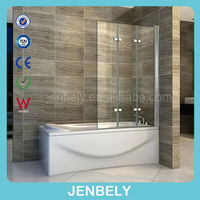 3 glass folding bath shower screen