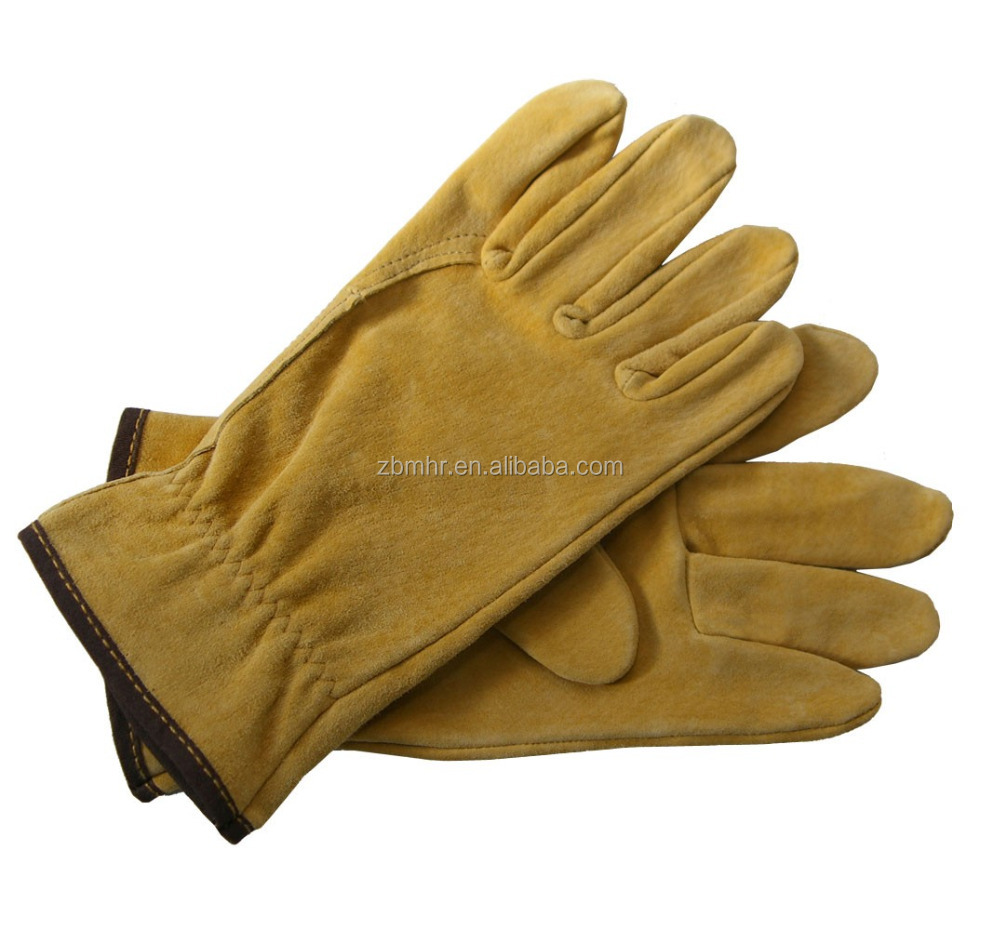 Brand MHR studded leather gloves cotton safety work gloves man leather ski gloves