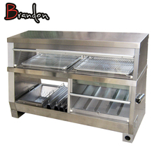 3 in 1 Cabinet Food Display Cabinets Stainless Steel Glass Snack Hot Food Display Warmer