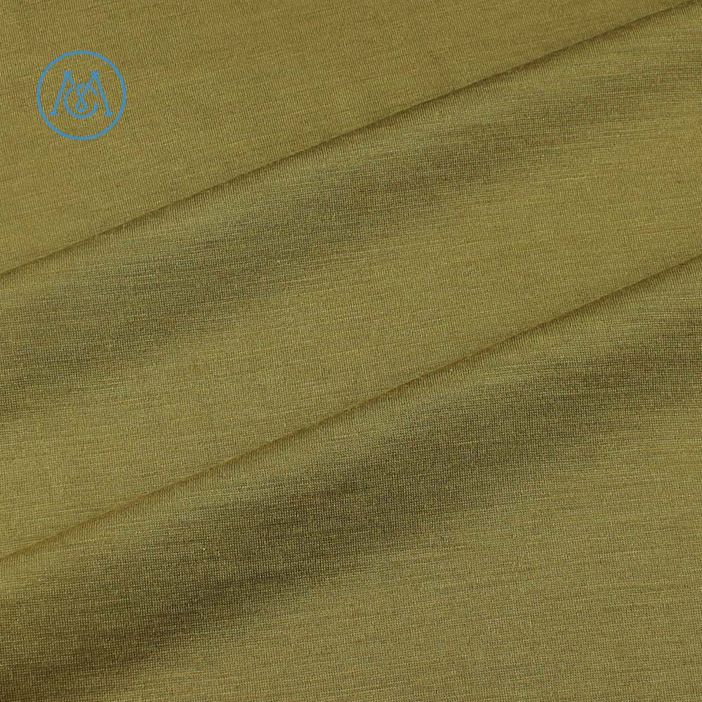 Australian camel merino wool fabric wool blended merino acrylic jersey knit fabric using boiled wool yarn