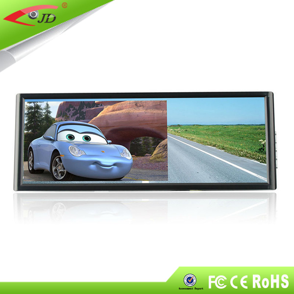 guangzhou automobile rearview mirror 7 inch 2 video input Rear monitor
