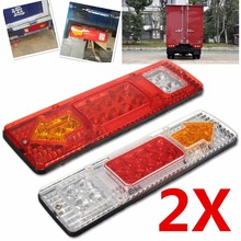 Waterproof 24v Caravan Led Trailer Tail Lights LED Rear Turn Signal Truck Trailer Lorry Stop Rear Tail Indicator Light Lamp